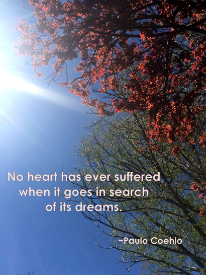 no heart ever suffered when it goes in search of its dreams ~ Paulo Coehlo