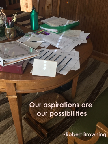 Our aspirations are our possibilities - Robert Browning