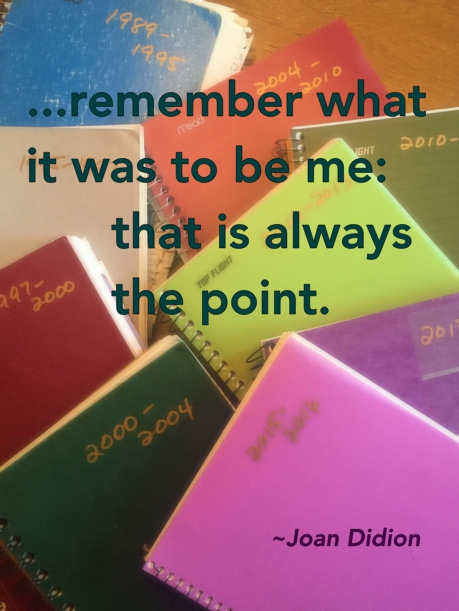 ...remember what it was to be me: that is always the point