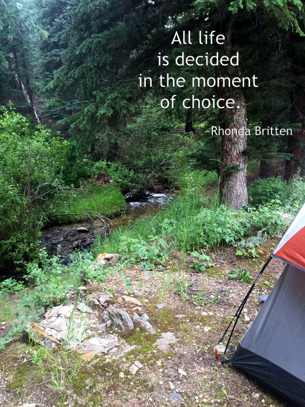 All life is decided in the moment of choice. Rhonda Britten