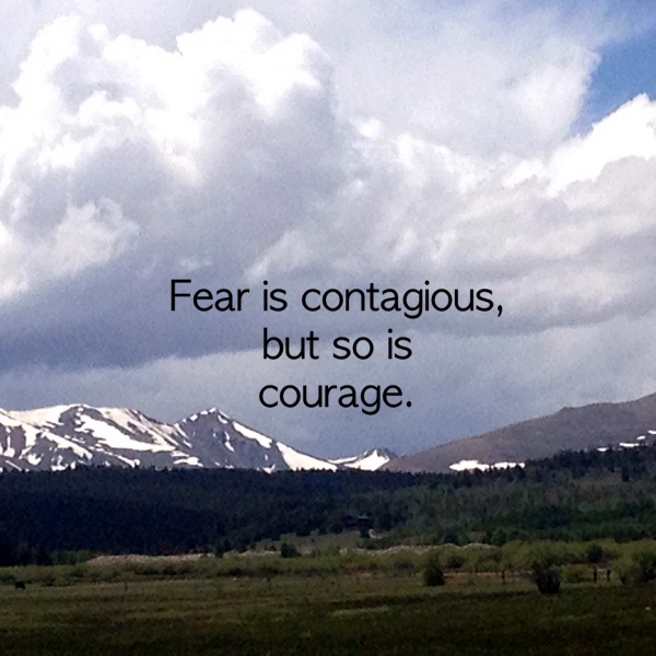 Fear is contagious , but so is courage