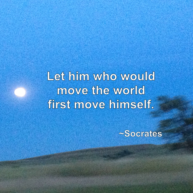 Let him who would move the world first move himself. Socrates
