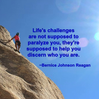Life's challenges are not supposed to paralyze you, they're supposed to help you discern who you are.