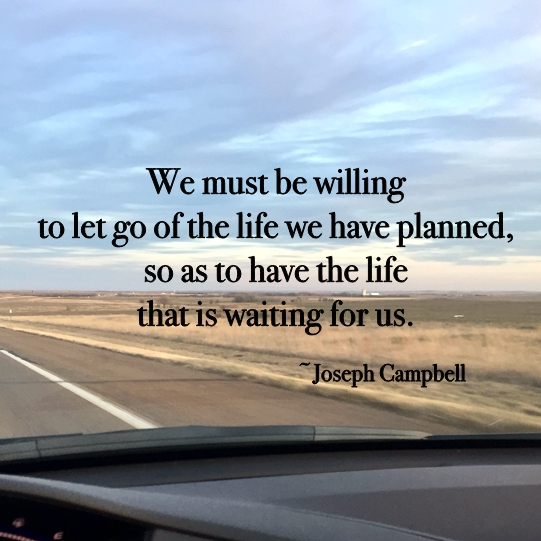 We must be willing to let go of the life we have planned, so as to have the life tha tis waiting for us ~Joseph Campbell