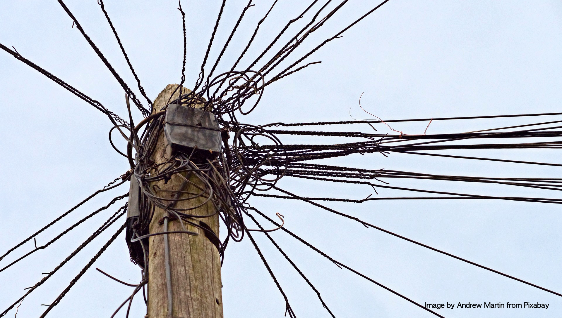 overloaded telephone wires